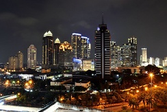 Night view of SCBD (Sudirman Central Business District), Jakarta