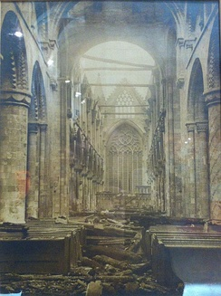 The Abbey after the fire of 1906