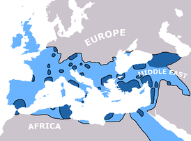 Spread of Christianity to AD 325   Spread of Christianity to AD 600