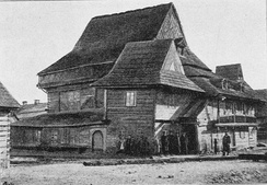 Wooden Synagogue of Zabłudów in 1895