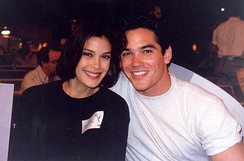Hatcher with Dean Cain at the 45th Primetime Emmy Awards