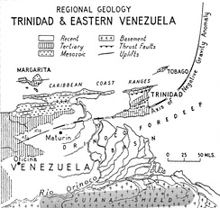 Regional Geology of Trinidad and Venezuela[25]