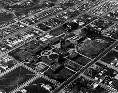 Aerial view of UCLA (formerly the University of California, Southern Branch) taken in 1922