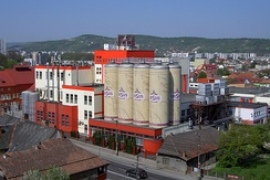 The Ursus Brewery, where a popular Romanian beer is produced