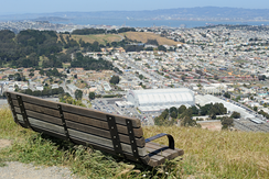 View to Cow Palace and Visitacion Valley from San Bruno Mountain State Park