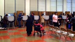 Voting taking place at a Maryland polling station