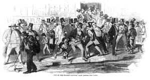 Bank run on the Seamen's Savings' Bank during the Panic of 1857