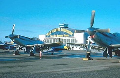 Hayward Air National Guard Base, California, 1953, F-51H Mustangs.
