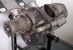 An Allison Model 250 turboshaft engine common to many types of helicopters
