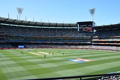 The second match of the Cricket World Cup at the MCG between Australia and England