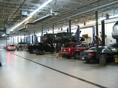 Auto dealer's service and repair facility