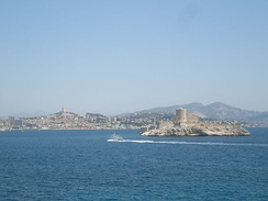 The Château d'If with Marseille in the background