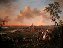 The Duke of Lorraine and Imperial troops crossing the Rhine before Strasbourg, 1744