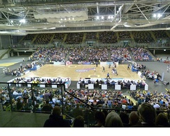 The Glasgow Rocks' first home game at the Emirates Arena, October 2012
