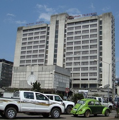 The Ethiopian Broadcasting Corporation headquarters in Addis Ababa
