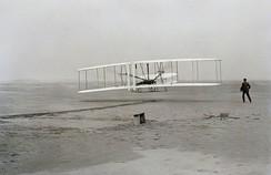 Orville and Wilbur Wright flew the Wright Flyer in 1903 at Kitty Hawk, North Carolina.