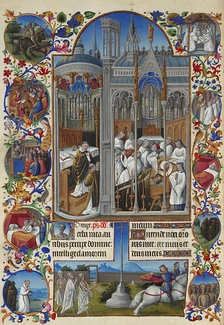 The funeral of Raymond Diocrès, folio 86v
