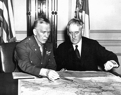 Marshall with Secretary of War Henry Stimson