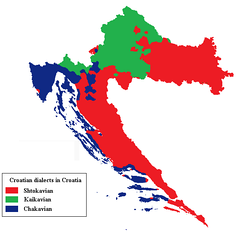 Map of the dialects of Croatia