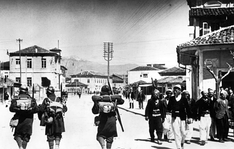 Albanian soldiers in April 1939, during the Italian invasion of Albania.