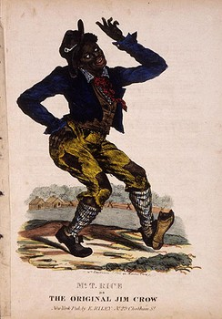 "Cover of an early edition of ""Jump Jim Crow"" sheet music (circa 1832)"