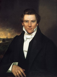 Portrait after an alleged daguerreotype of Joseph Smith