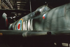 Spitfire Mk IX in 310 Squadron markings at Prague Aviation Museum, Kbely