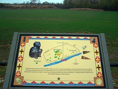 Diagram of site on one of three information plaques on display