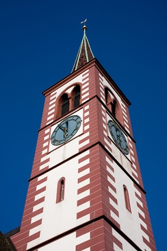 Tower of the city church of Liestal