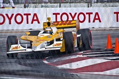 Hunter-Reay's car at the 2011 Toyota Grand Prix of Long Beach on the Streets of Long Beach.