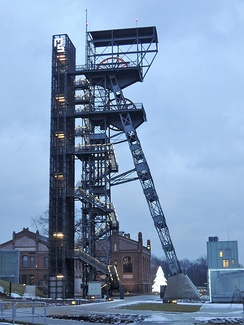 Mine shaft Warszawa, Katowice. Currently functioning as observation tower and part of the Silesian Museum