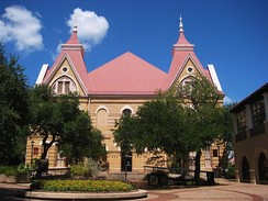 Old Main academic building at Texas State University