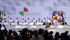 The Ibero-American Summit, in Veracruz, 2014.
