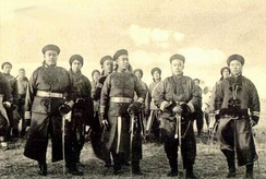 Qing imperial soldiers during the Boxer Rebellion
