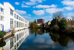 A former millpond on the River Len, Mill Street/Palace Avenue Maidstone.