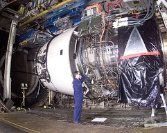Rolls-Royce Trent 900 undergoing climatic testing