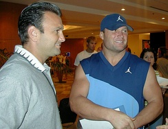 Thomas (right) with agent Drew Rosenhaus