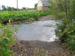 The Rye Water Ford in North Ayrshire, a rare unmodernised crossing of a minor river