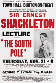 Shackleton embarked on an extensive lecture tour in which he talked not only about his own polar journeys but also those of Scott and Roald Amundsen
