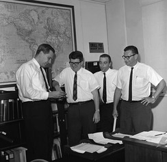 Donald Henderson as part of the CDC's smallpox eradication team in 1966.