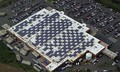 Solar modules mounted on a Walmart in Caguas, Puerto Rico