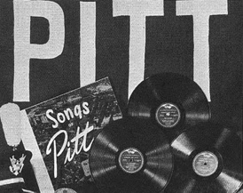 In the early 1950s, the Pitt Band and the Pitt Men's Glee Club cooperated with the RCA Victor recording company to release a compilation of Pitt songs titled Songs of Pitt