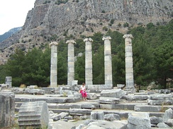 The temple of Athena (funded by Alexander the Great) in the ancient Greek city of Priene