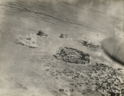 Aerial bombardment of Dervish forts in Taleh.