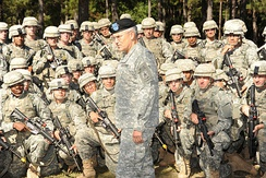 Chief of Staff of the United States Army George W. Casey Jr. at Fort Benning in 2009.
