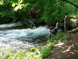 The source of the Bosna river on the outskirts of Sarajevo.