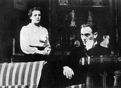 Mady Christians and Paul Lukas in the original Broadway production of Lillian Hellman's Watch on the Rhine (1941)