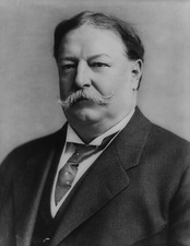 future US President William Howard Taft was the First American Governor General of the Philippines