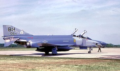 106th Reconnaissance Squadron McDonnell RF-4C-24-MC Phantom 65-0833 in late-1980s camouflage motif. Aircraft retired in 1993, now on static display at Jasper, AL VFW post.