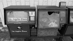 Abandoned Los Angeles Times vending machine in Covina, California, in 2011